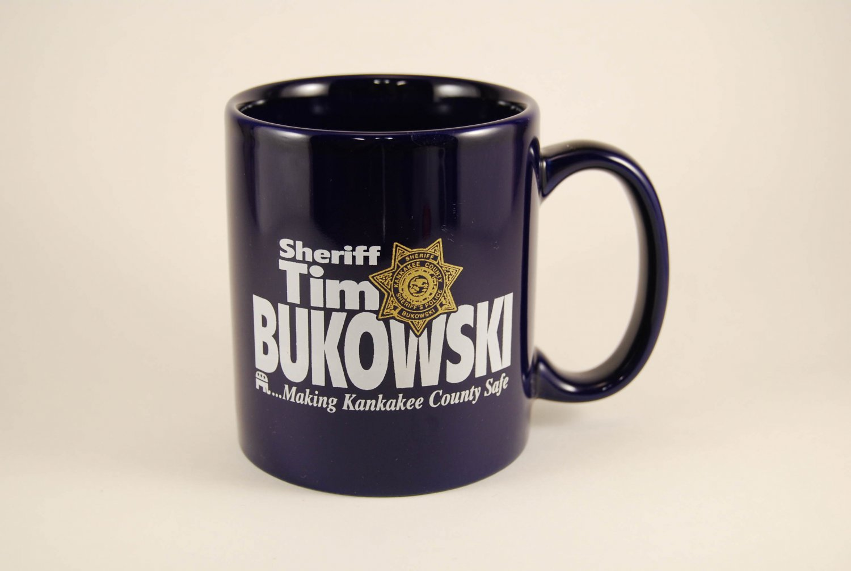 Kankakee IL County Sheriff's Police Bukowski Ceramic Coffee Mug Cup Illinois