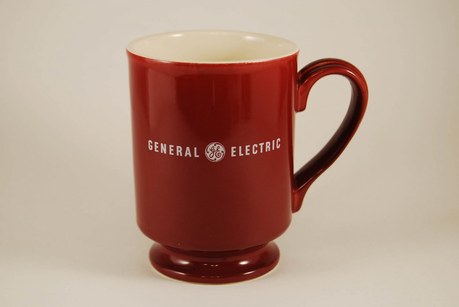 GE General Electric Nuclear Operator Training Services Maroon Coffee Mug Cup