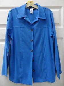 Sag Habor Blue Long Sleeve Womens Ladies Top Shirt Size 8