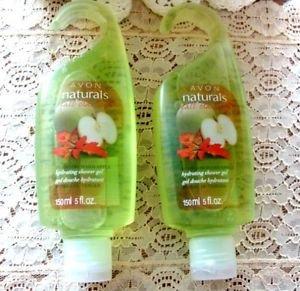 Avon Naturals Body Care Shower Gel Fresh Orhard Apple Lot of (2)
