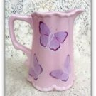 Ceramic Pink Butterfly Pitcher