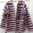 Womens Ladies Mauve Cut Up Material Piece Jacket Size 16