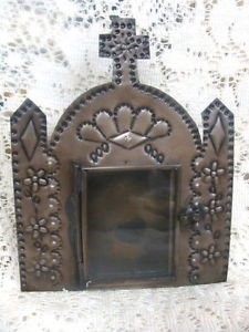 Decorative Metal Church  Hanging Frame w/ Glass