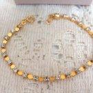Avon Goldtone Tennis Bracelet w/ Rhinestones Vintage