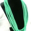 Bright Green Necklace Beads 6 Strands