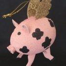 Christmas Angel Pig w/ Wings Ornament