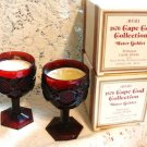 CAPE COD COLLECTION AVON set of 2 WATER GOBLETS CANDLE
