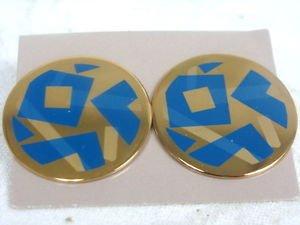 Avon Goldtone Round Pierced Earrings - (vintage)