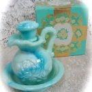 Avon Victoriana Pitcher & Bowl Moonwind Bath Oil Decanter L@@K!