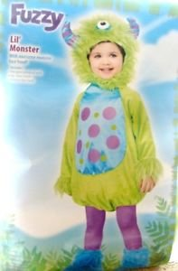 Fussy Lil' Monster Face Head One Piece Jumpsuit One Size All 24 Months Toddler