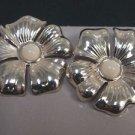 Avon Silvertone Floral Sculptured Drop Silver Tone Pierced Earrings - (vintage)