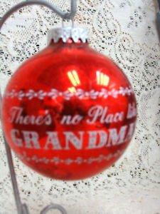 Red Christmas Bulb  No Place Like Grandma's