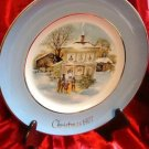 AVON CAROLLERS IN THE SNOW HOLIDAY CHRISTMAS PLATE 1977