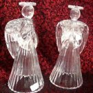 Christmas Candle Crystal Angels Candle Holder Set