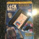 Brand New Lock Wallet: RFID Blocking Wallet! ~Holds 36 Cards~Black~