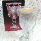 Avon Heart & Diamond Crystal Fostoria Loving Cup w/ Perfumed Candle Holder