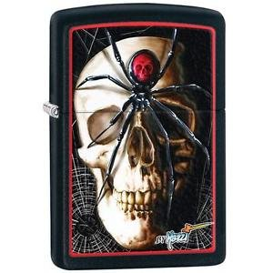 Black Matte, Mazzi Skull and Spider