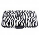 Wallet Zebra Design Aluminum RFID Blocking Security Protective Credit Card