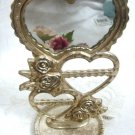 Metal Heart Earring Stand Metal Display w/ Mirror