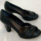 Franco Sarto Black Pump Heel w/ Studs Shoes 8.5
