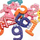 10 Number Wooden Fridge Magnet Education Kid Toy