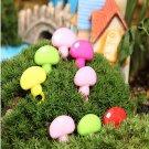 DIY Miniature Colorful Mushrooms Ornaments Potted Plant Garden Decor