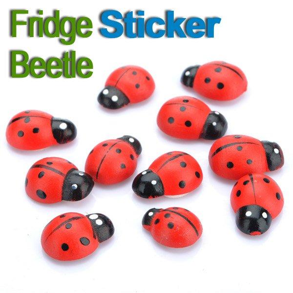 10 Pcs Beetle Refrigerator Fridge Sticker Magnet Fridge Decor