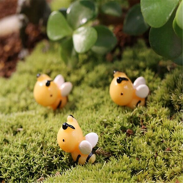 DIY Miniature Cute Bee Ornaments Potted Plant Garden Decor
