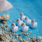 Mini Resin White Swan Garden Micro Landscape DIY Decorations