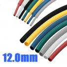 1M 12.0mm 7 Color 2:1 Polyolefin Heat Shrink Tubing Tube Sleeving Wrap
