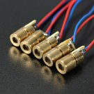 1 Pc DC 5V 5mW 650nm 6mm Laser Dot Diode Module Red Copper Head Tube