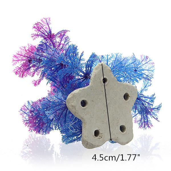 Artificial Plastic Underwater Plant Flower Aquarium Ornament