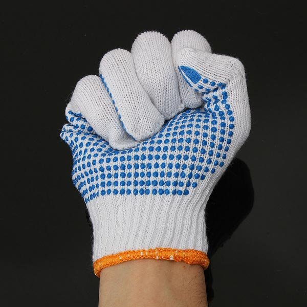 Wear-resisting Cotton PVC Gardening Gloves Labor Safety Working Gloves