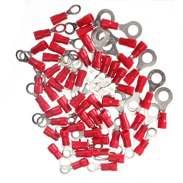 20Pcs 0.5-1.5mm? Ring Ground Insulated  Electrical Crimp Terminal