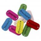 10Pcs 23x11mm Wood Handmade Buttons Scrapbooking Craft Sewing Buttons
