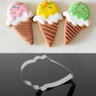 Stainless Steel Ice Cream Shape Biscuit Cookie Cutter Decorating Tool