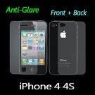 Anti Glare Matte Front and Back Clear Screen Protector For iPhone 4
