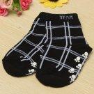 Unisex Infant Children Babys Plaid Sport Casual Anti-slip Cotton Socks