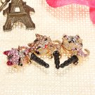 Lovely Crystal Rhinestone Cat Anti Dust Earphone Plug For Cellphone