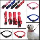 S Pet Dog Cat Puppy Adjustable Collar Solid Nylon Strap