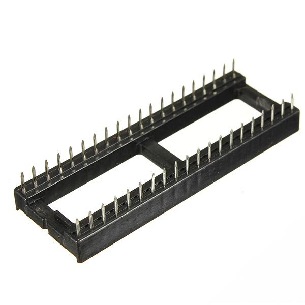 5 Pcs 40 Pins IC Socket 2.54mm Wide DIP Sockets Adaptor Solder Type Black