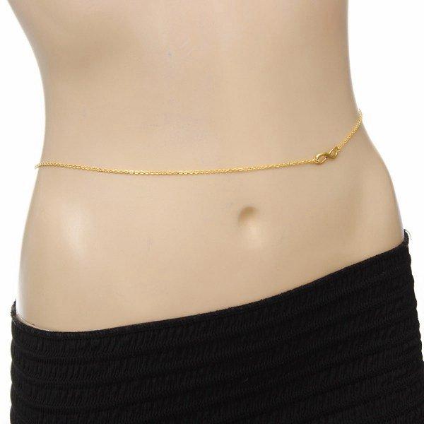 Sexy Bikini Infinity 8 Belly Waist Chain Gold Plated Body Necklace