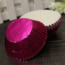 50pcs Foil Cupcake Muffin Cake Paper Baking Cup Cases Liners