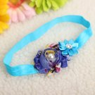 Kid Girl Baby Flower Jewels Chiffon Headband Bownot Hair Accessory