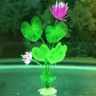 Fish Tank Decoration Artificial Lotus Grass Plastic Plant