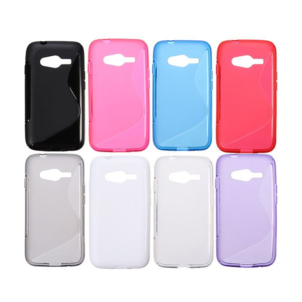 S Line Wave TPU Back Case Cover For Samsung Galaxy Ace 4 G357