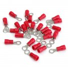 25pcs Red Rubber PVC Terminals Insulated Ring Connector RC 0.5-1.5mm?