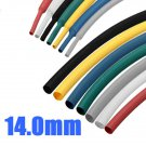 1M 14.0mm 7 Color 2:1 Polyolefin Heat Shrink Tubing Tube Sleeving Wrap