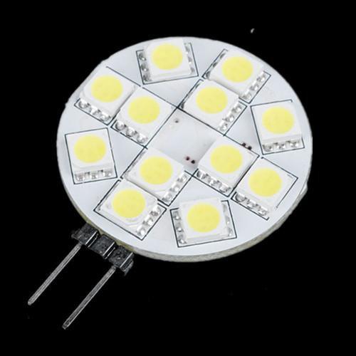 G4 12 SMD 5050 LED Bulb Lamp 12V Pure White Light Car