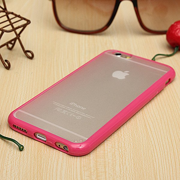 PC Matte Transparent TPU Bumper Frame Hard Case For iPhone 6